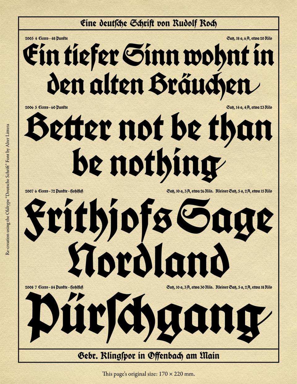 alter littera the oldtype deutsche schrift font