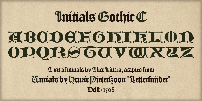 Alter Littera The Initials Gothic C Font