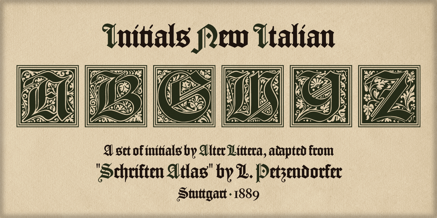 Alter Littera - The Initials Font Collection - Gallery