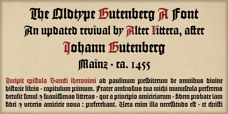 Alotgutenberga Initial Letter Es