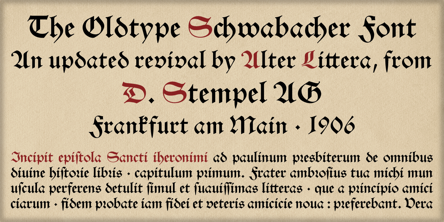 Alter Littera - The Oldtype Font Collection - Gallery